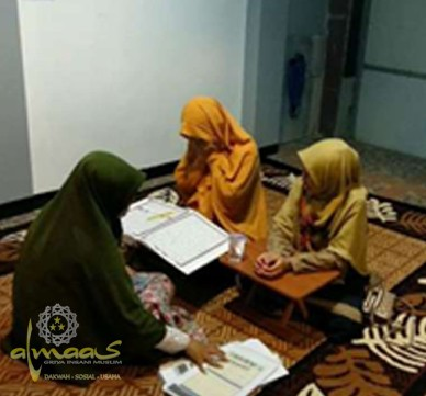 Kegiatan Belajar Mengajar Mengaji ALMAAS Kelas Privat Kategori Dewasa
