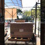 Delivery 160 lembar plafon akustik untuk Bpk.Rahmad tujuan Tambaksari Surabaya